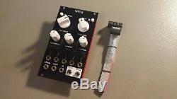DIY Mutable Rings Eurorack, pro build, black aluminium panel // white knobs