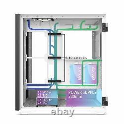 DarkFlash DLX21 MESH, E-ATX Full Tower Gaming Computer PC Case Door Opening Panel