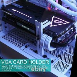 DarkFlash DLX21 MESH, M ATX Full Tower Gaming Computer PC Case Door Opening Panel