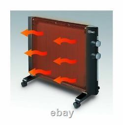 De'Longhi Mica Thermic Panel Heater, Full Room Quiet 1500W, Freestanding/Easy