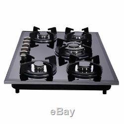 Delikit 1A 30 5burners gas cooktop gas hob NG/LPG dual fuel glass panel