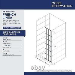 DreamLine French Linea Toulon 34 in. W x 72 in. H Single Panel Frameless Show