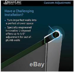 DreamLine SHDR-3230721 Linea Single Panel Frameless Shower Screen Black