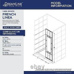 DreamLine SHDR-3234721-86 French Linea Avignon 34 Shower Door, Open Entry Black