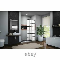 DreamLine SHDR-3234721-87 French Linea Rhone 34 Shower Door, Open Entry, Black