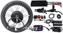 E-Bike Hi Power 72V 5000W Ebike Conversion Kit & Panel/Display Electric Bicycle