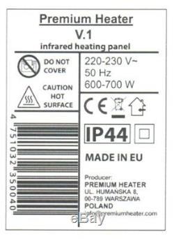 Electric Glass Panel Heater Radiator ultra slim 600w wifi smartphone control