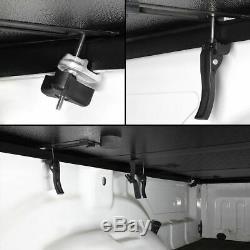 FRP Rear Clamp Solid Tri-Fold Tonneau Cover For Silverado Sierra 6.5FT Styleside