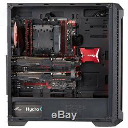 FSP E-ATX Mid Tower PC Gaming Case with 2 Translucent Tempered Glass Panels
