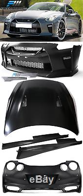 Fits Nissan R35 GTR 09-16 to 2017+ MY17 Front & Rear Bumper Cover & Side Skirts