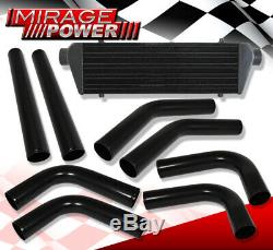 Fmic Kit Aluminum Pipes Piping With Fin & Tube Front Mount Turbo Intercooler Set