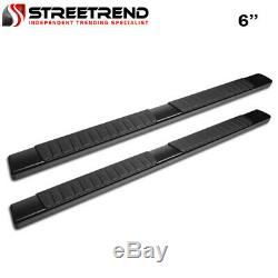 For 04-17 18 Nissan Titan Crew Cab 6 OE Aluminum Black Side Step Running Boards