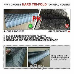 For 04-18 Ford F150 Truck 5.5ft Short Bed Frp Hard Solid Tri-fold Tonneau Cover