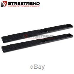 For 07-18 Silverado/Sierra Crew 6 OE Aluminum Side Step Running Boards (Black)
