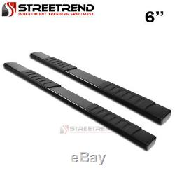 For 07-18 Tundra Double / Crew Cab 6 OE Aluminum Black Side Step Running Boards