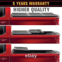 For 07-19 Chevrolet Silverado /GMC Sierra 5.8ft Bed Hard Tri-Fold Tonneau Cover