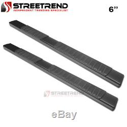 For 15-18 F150/F250 Super/Extended 6 OE Aluminum Black Side Step Running Boards