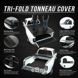 For 2004-2019 Ford F-150 5.5ft Short Bed Hard Tri-Fold Tonneau Cover Clamp-On