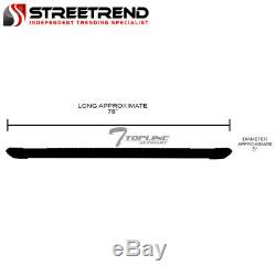 For 2005-2018 Toyota Tacoma Access 5 Matte Blk Aluminum Side Step Running Board