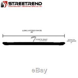 For 2007-2018 Silverado/Sierra Crew Cab 5 Matte Black Aluminum Running Boards