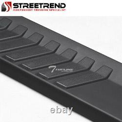 For 2007-2018 Silverado/Sierra Crew Cab 6 Matte Black Aluminum Running Boards