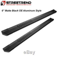 For 2007-2019 Toyota Tundra Double 6 Matte Blk Aluminum Side Step Running Board