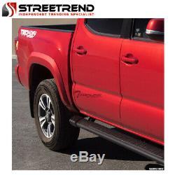 For 2007+ Silverado/Sierra Double/Extended 5 Matte Blk Aluminum Running Boards