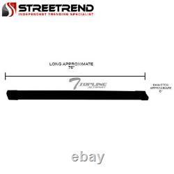 For 2007+ Silverado/Sierra Double/Extended 6 Matte Blk Aluminum Running Boards