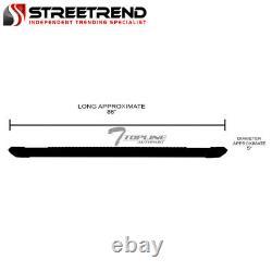 For 2015+ F150/2017+ F250 Crew 5 Matte Black Aluminum Side Step Running Boards