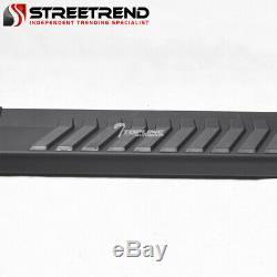 For 2015+ F150/2017+ F250 Crew 6 Matte Black Aluminum Side Step Running Boards