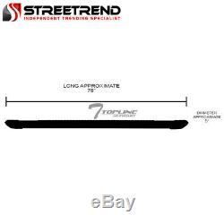 For 2015+ F150/2017+ F250 Super 5 Matte Black Aluminum Side Step Running Boards