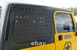 For Jeep Wrangler TJ 1997-2006 Window Glass Strip Decals Panel Trim Aluminum 2PC