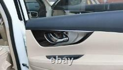 For Nissan Rogue 2014-2020 Steel Bright black car inner door handle panel cover