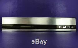 Ford F150 F250 F350 Rear Tailgate Finish Panel Bezel Trim Black Reflector 87-96