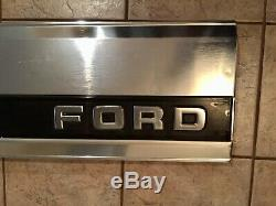 Ford F150 Tailgate Finish Panel F250 Rear Trim Black Reflector 87-96 Please Read