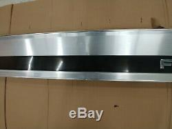 Ford F250 F350 Brushed Aluminum Tailgate Bezel Trim Panel Black DIESEL 93-97 OEM