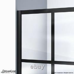 French Linea Rhone 34 in. W x 72 in. H Single Panel Frameless Shower Door