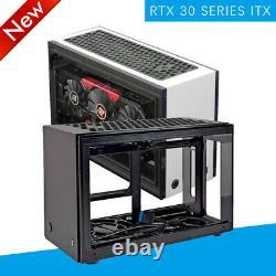 GEEEK A50S Mini ITX Computer Case PC Aluminum Acrylic Side Panels Cooling Case