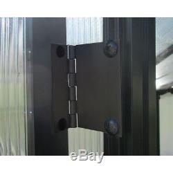 Greenhouses Crystal Clear 8x24 Ft. Black Aluminum Twin Wall Polycarbonate Panels