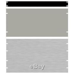 Hammond PBPA19021BK2 12U 19 Rack Aluminium Blank Panel Black 483 x 3 x 533