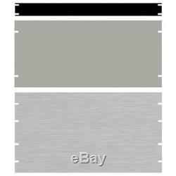Hammond PBPA19024BK2 14U 19 Rack Aluminium Blank Panel Black 483 x 3 x 622