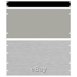 Hammond PBPA19031BK2 18U 19 Rack Aluminium Blank Panel Black 483 x 3 x 800