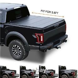 Hard Quad-Fold Truck Bed Tonneau Cover For Ford F150 2015-2020 2021 5.5'/67.1
