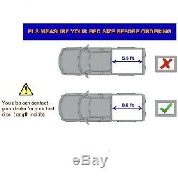 Hard Tri-Fold Tonneau Cover For 2014-2020 Toyota Tundra 6.5FT Bed