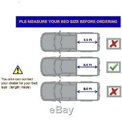 Hard Tri-Fold Tonneau Cover For 2015-2020 Ford F150 6.5FT Bed Pickup