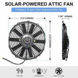 Holmes Bionaire12 Compact Window Fan DC Vent Fan w Solar Battery Panel, 6 Blades