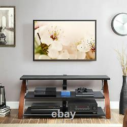 Home 3-In-1 Flat Panel TV Glass Unit Stand Cabinet Table For Tvs Up To 65