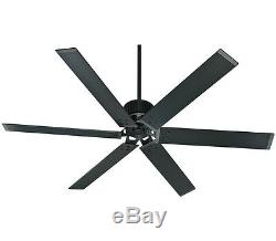 Hunter 72 Industrial Style Matte Black Damp Rated Ceiling Fan HFC-72 59136