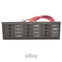 Hydra Sports Boat Breaker Panel HS17020145 3300-VX Black Aluminum