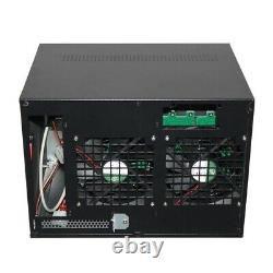 ITX Computer case 8 Position Hot Swap Server Storage Aluminum Panel NAS Chassis